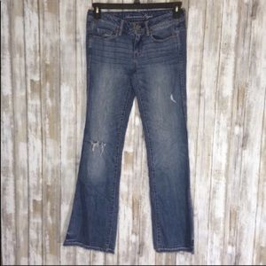 American Eagle Distressed Flare Jeans